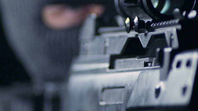 man aiming with rifle - murder stock videos & royalty-free footage