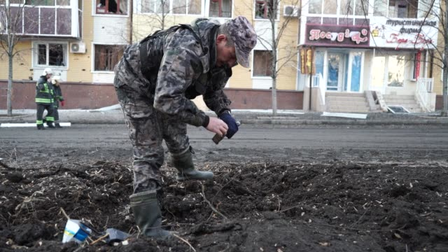 A man and a woman were killed Saturday by shelling in the centre of the eastern Ukraine rebel stronghold Donetsk just hours before a truce was due to...