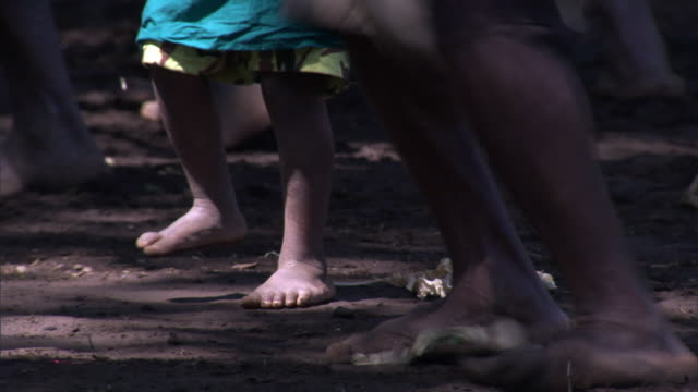 man and child dance at tribal toka festival, tanna island, vanuatu - traditional ceremony stock videos and b-roll footage