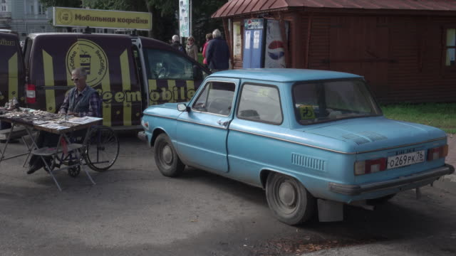 A man and his Lada in Uglich