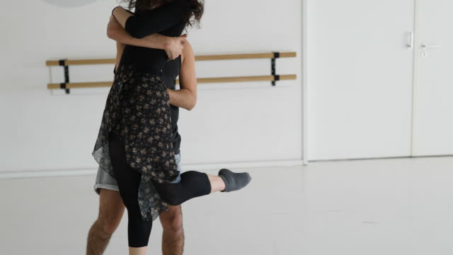 man and woman ballet dancing with passion - ballet studio stock videos & royalty-free footage