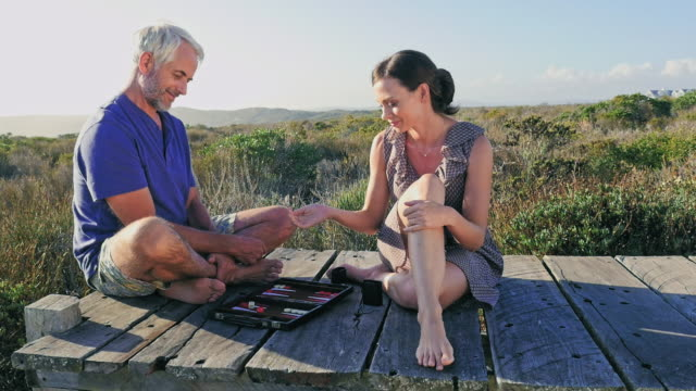 man and woman playing - stoppelbart stock-videos und b-roll-filmmaterial