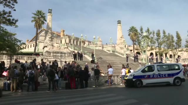 A man armed with a knife killed two people at the main train station in the Mediterranean port city of Marseille on Sunday before being shot by...