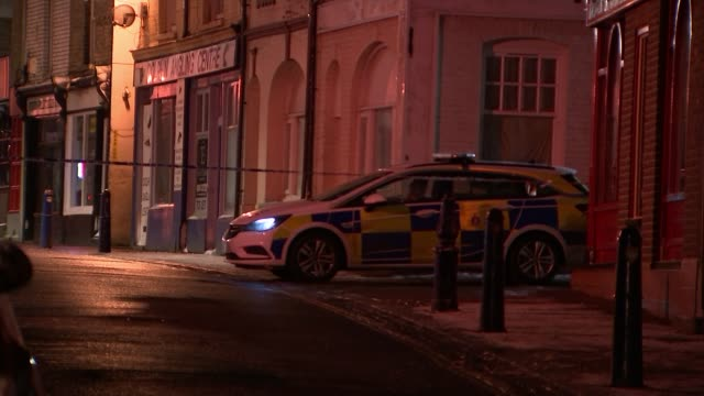 Man arrested after car ploughs into nightclub in Gravesend Kent Gravesend Various shots of police cars and tape cordons outside Blake's nightclub