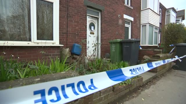 man arrested on suspicion of murder of three men in their 80s in exeter; england: devon: exeter: ext police car and cordon on residential street... - exeter england stock videos & royalty-free footage