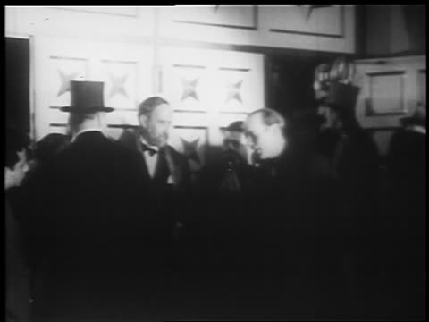 b/w 1935 man at microphone introducing fanny hurst at jumbo opening / hippodrome theater - 1935 stock videos and b-roll footage