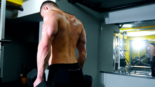 man at the gym - cross training stock videos & royalty-free footage