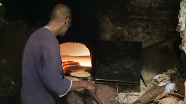 man baking bread - food and drink stock videos & royalty-free footage
