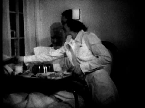 1949 B/W MS Man being treated for alcoholism, USA, AUDIO