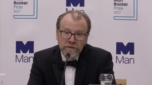 man booker prize recipient george saunders discusses winning the prize writing lincoln in the bardo and how the former president can be compared to... - booker prize stock-videos und b-roll-filmmaterial