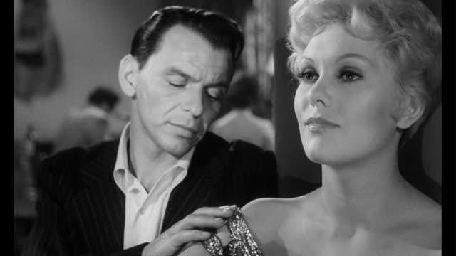 1955 man (frank sinatra) breaks woman's (kim novak) heart - frank sinatra stock videos & royalty-free footage