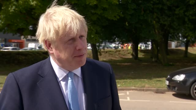 Man charged with attempted murder after police officer attacked with machete in Leyton ENGLAND Oxford EXT Boris Johnson MP interview SOT [re machete...