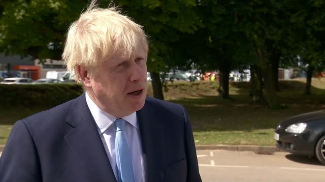 Man charged with attempted murder after police officer attacked with machete in Leyton ENGLAND London EXT Boris Johnson MP interview SOT What this...