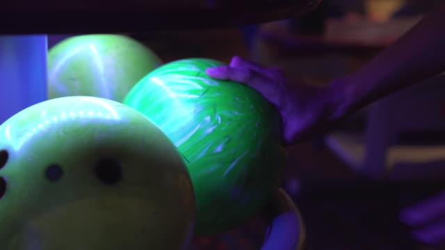 man choose bowling ball to play - bowling ball stock videos & royalty-free footage