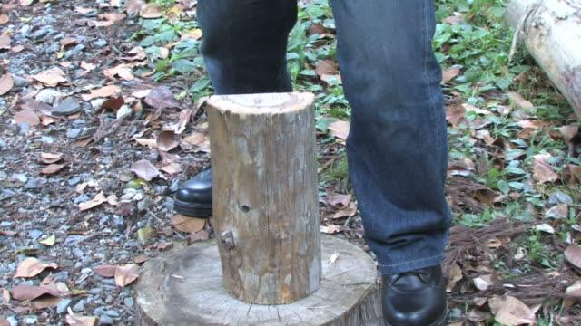 man chopping wood - einzelner mann über 30 stock-videos und b-roll-filmmaterial