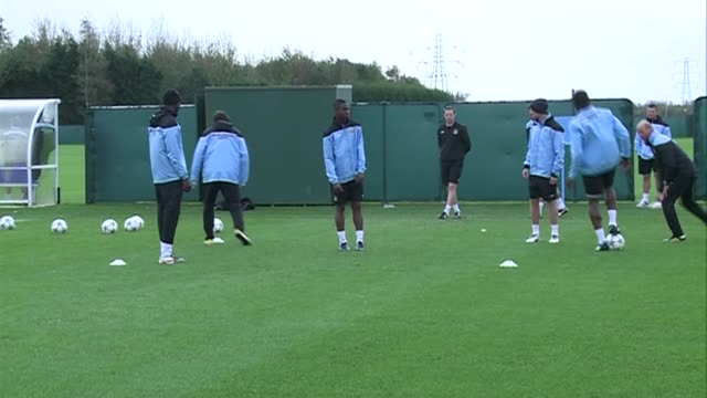man city training shots including david silva sergio aguero owen hargreaves general team training - one touch passing - other players featured... - other stock videos & royalty-free footage