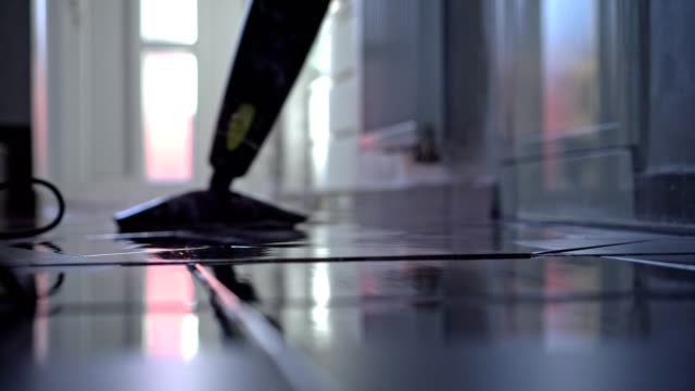 man cleaning the floor - steam stock videos & royalty-free footage