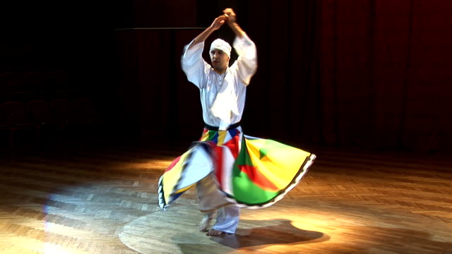 man dancing Arabic dance