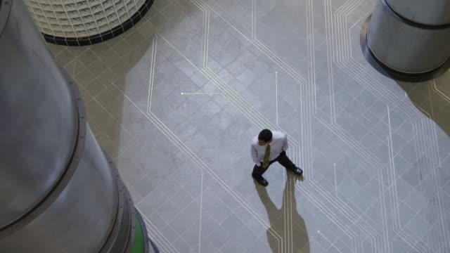 ws man dancing in office hallway / orem, utah, usa - orem utah stock videos & royalty-free footage