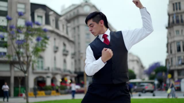man dancing tango - argentinian culture stock videos & royalty-free footage