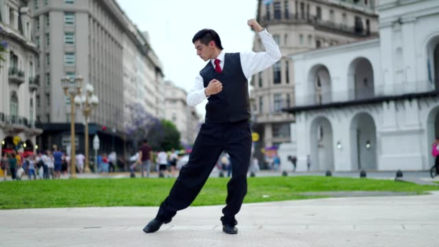 man dancing tango - tangoing stock videos & royalty-free footage