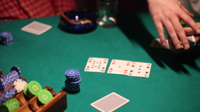 man dealing cards before poker game - croupier stock videos & royalty-free footage