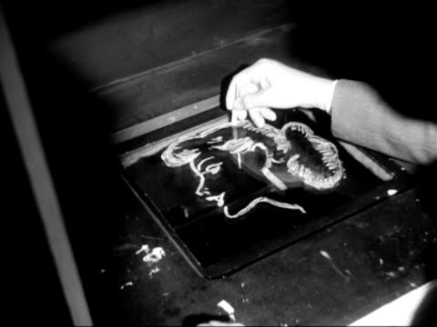 man demonstrates how an electronic telescribe works at the national radio show at earls court. - earls court stock videos & royalty-free footage