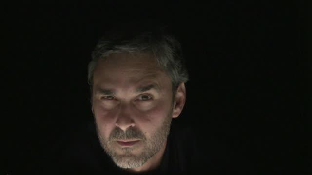 vídeos de stock, filmes e b-roll de ms man different expressions / sao paulo, brazil - raised eyebrows