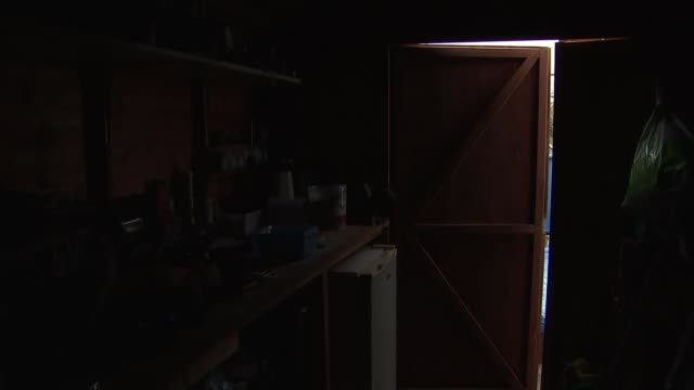 man discovers mouse moving objects in his shed england gloucestershire severn beach ext stephen mckears along with reporter mckears and reporter... - workbench stock videos & royalty-free footage
