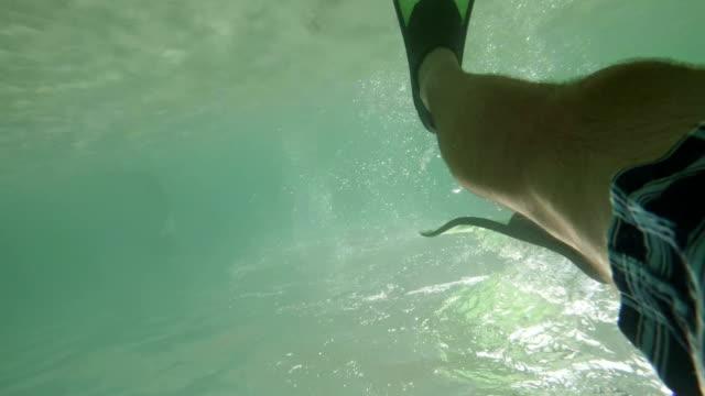 Man diving. Slow motion