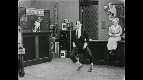 1919 man does silly dance in country store - slapstick comedy stock videos & royalty-free footage
