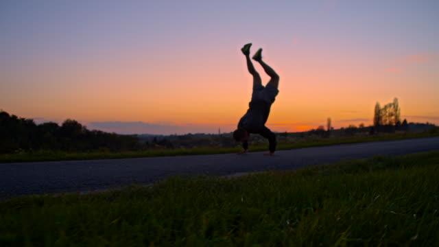 WS Man Doing A Handstand