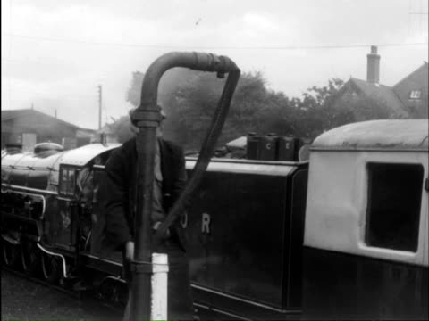 ms man doing maintenance of engines and watering to engine / blackwell; bromsgrove, hereford and worcester, england - worcestershire stock videos and b-roll footage