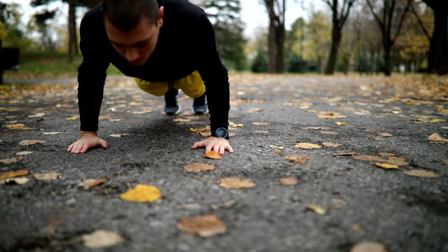 man doing push ups - improvement stock videos & royalty-free footage