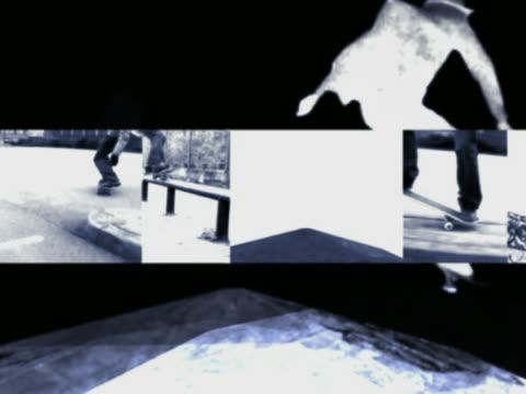 Man doing stunts on skateboard