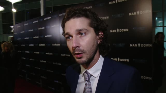 """man down"""" los angeles premiere at arclight hollywood on november 30, 2016 in hollywood, california. - shia labeouf stock videos & royalty-free footage"""