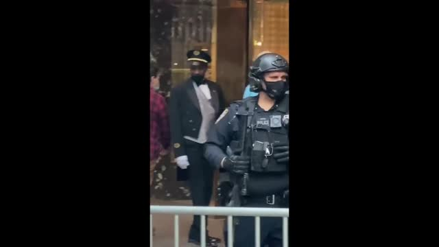 """man dressed in the likeness of us president donald trump performed a skit of the president purportedly """"crying his guts out"""" in front of manhattan's... - vignette stock videos & royalty-free footage"""