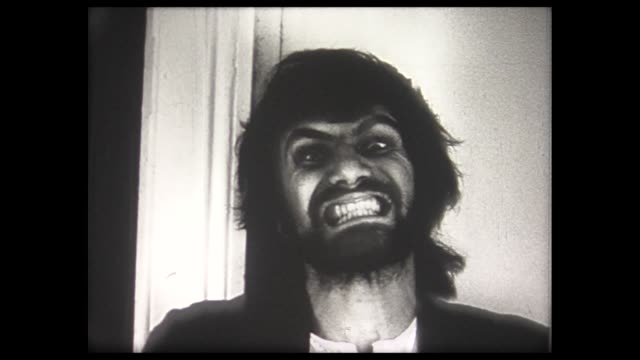 1973 man drinks milk turns into werewolf - 1973 stock videos and b-roll footage