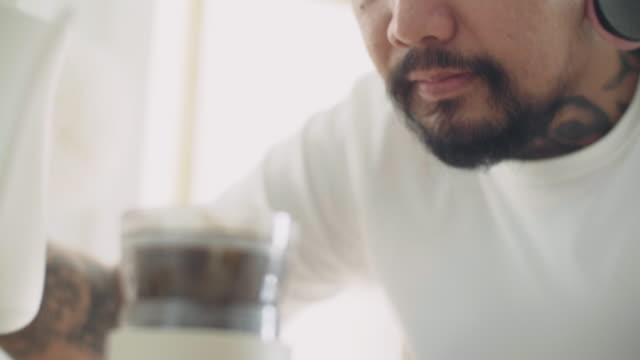 a man drip coffee brewed. - pouring stock videos & royalty-free footage