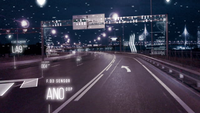 a man driving a car on the road. tracking system city - big brother orwellian concept stock videos & royalty-free footage