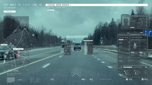 vídeos de stock e filmes b-roll de a man driving a car on the road. tracking system - procurar