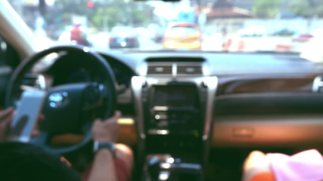 man driving car, blur shot - taxi driver stock videos and b-roll footage