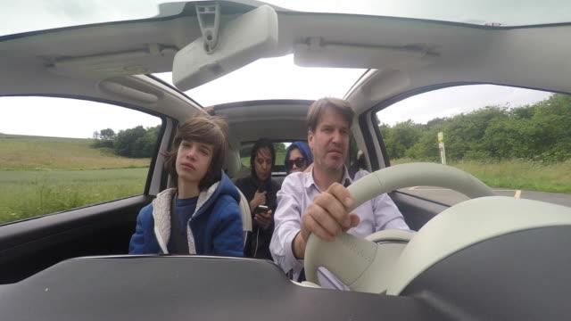 man driving car, pov man driving convertible, family - family convertible stock videos & royalty-free footage