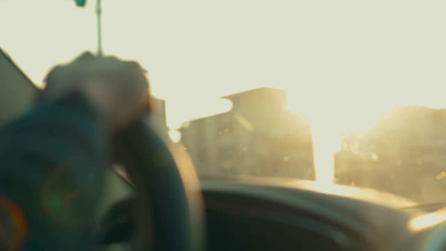 man driving car - rear view mirror stock videos and b-roll footage