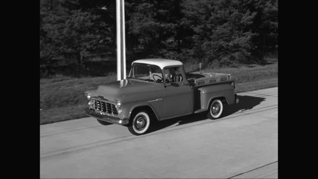ms ts man driving chevrolet truck on street / united states - chevrolet truck stock videos & royalty-free footage