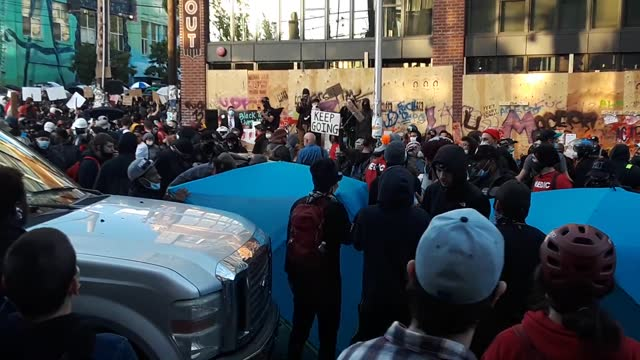 man drove into a crowd and shot a demonstrator during an anti-racism protest in seattle, washington, on sunday, june 7,... - https stock-videos und b-roll-filmmaterial