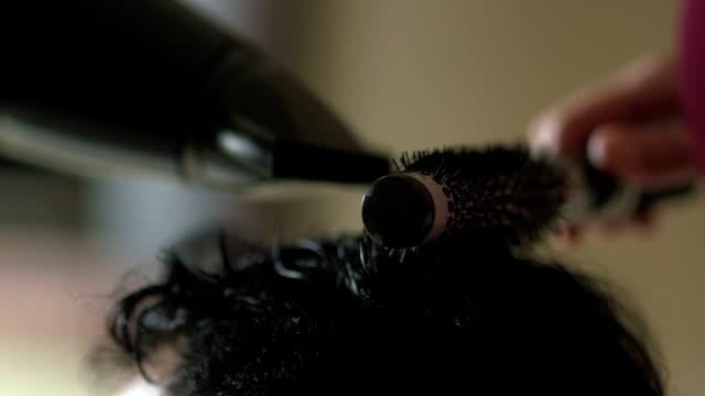 Man Drying Hair - Stock Footage