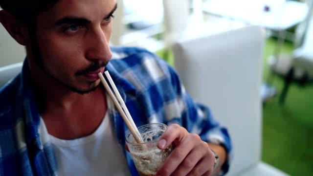 Man enjoying his coffee break
