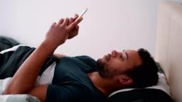 Man enjoying lazy morning