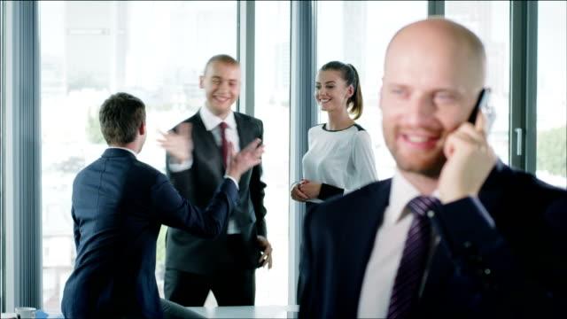 Man executive smiling